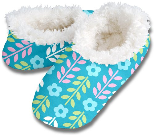 Cheap Snoozies FLORAL LEAVES No Skid Slipper Sock Footwear (100-327A)