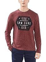 edc by ESPRIT Camiseta Manga Larga (Rojo)