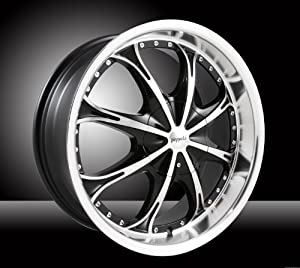 Pinnacle P52 Spider 20×7.5 Black and Machined Wheel 5x100mm 5×114.3mm Bolt Pattern / +40mm Offset / 74mm Hub Bore