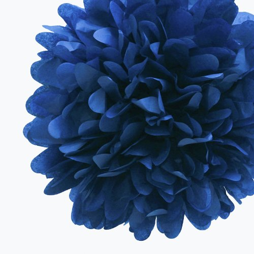 Dress My Cupcake 5-Inch Navy Tissue Paper Pom