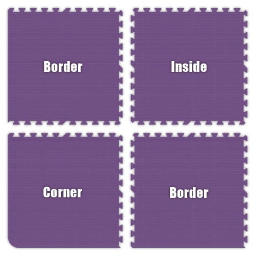 Cheap Alessco Purple Foam Interlocking Floor Tiles (B004ZIONTM)