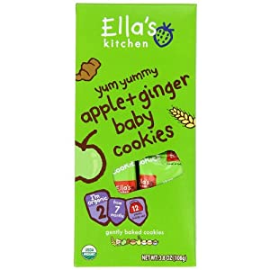 Ella's Kitchen 2 Baby Cookies - Apple & Ginger - 3.8 oz