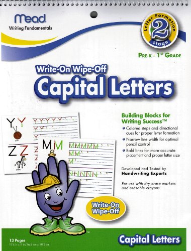 Mead Write-On Wipe-Off Capital Letters Stage 2 - 1