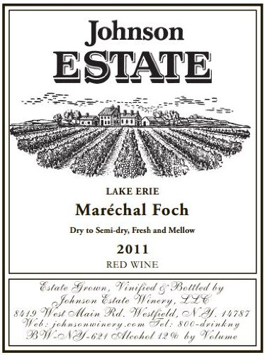 2011 Johnson Estate Marechal Foch Red Wine 750 Ml