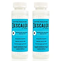 2 Pack of Descaler / Descaling Solution for Keurig, Nespresso, and Other Coffee/Espresso Machines - Made in USA - 2 Uses Per Bottle