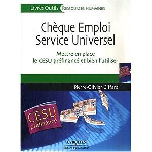 Chèque Emploi Service Universel : Mettre en place le CESU préfinancé et bien l'utiliser 511wb50rmNL._SL500_AA300_