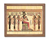 Egyptian Hieroglyphics I Kids Room Contemporary Home Decor Wall Picture Oak Framed Art Print