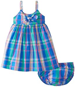 Nautica Baby-Girls Infant Woven Plaid Bow Dress from Nautica