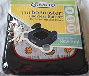 graco child sports turbobooster backless booster replacement seat cover baby. Black Bedroom Furniture Sets. Home Design Ideas