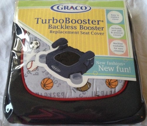 Graco Child Sports Turbobooster Backless Booster Replacement Seat Cover Features