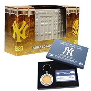 MLB New York Yankees Gift Set with Replica Stadium Artifact and Yankees Collectible... by Steiner Sports