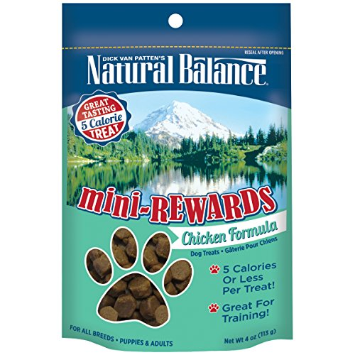 Natural Balance Mini Rewards Chicken Formula Dog Treats, 4-Ounce (All Natural Pet Food compare prices)