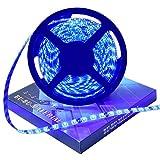 ぶーぶーマテリアル LEDテープ ブルー 300連 高輝度 5m 青 12V 白ベース 防水 【カーパーツ】