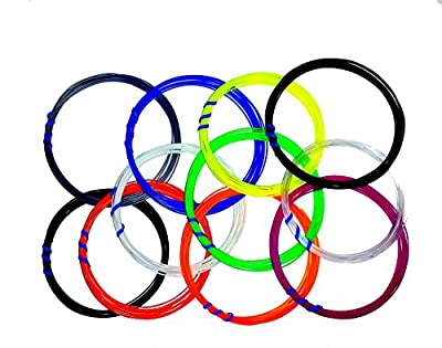 3D Pen ABS 1.75mm Fun Sampler Pack Quality Filament Assorted Color Pack of 220 Lineal Ft Total of Laser-Controlled Virgin Extrusion Grade Tight Tolerance Filament - 20 Ft. Each of 11 Different Colors