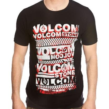 Volcom Men's Rep Cross T-Shirt - Black (X-Large)