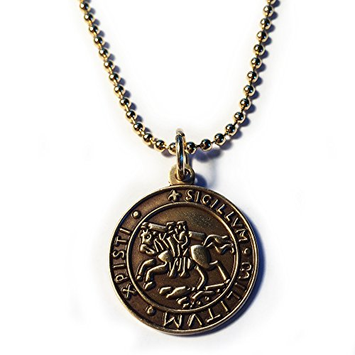 Knights Templar Seal Crusaders Solomons Temple Pendant Necklace w/ball chain (Seal Necklace compare prices)