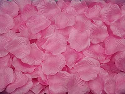 SlimACC New Arrival 2000pcs Colorful Silk Rose Petals Artificial Flower Bridal Shower Favors for Wedding Party Supplies Decoration (Dark pink)