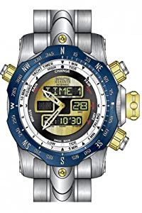 Invicta Men's 12586 Venom Quartz Multifunction Gold Dial Watch