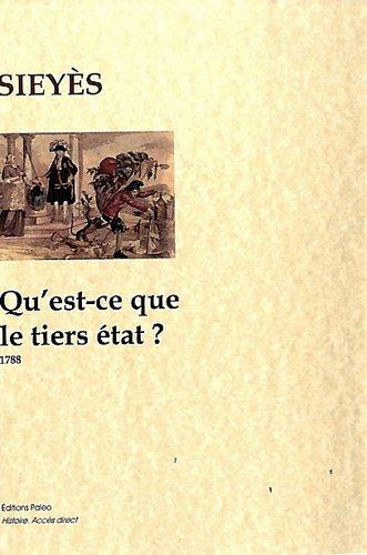 Qu'est-ce que le tiers état ? : 1788
