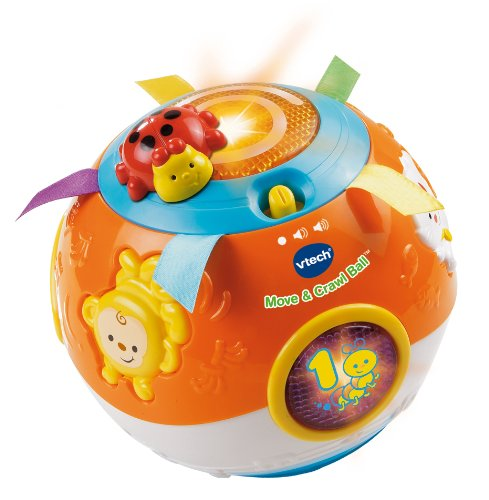 VTech Move and Crawl Ball, Orange - 1