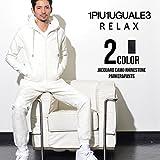 1PIU1UGUALE3 RELAX(ウノピゥウノウグァーレトレ)ラインストーンカモフラージュジャガードパーカ&パンツ S WHT