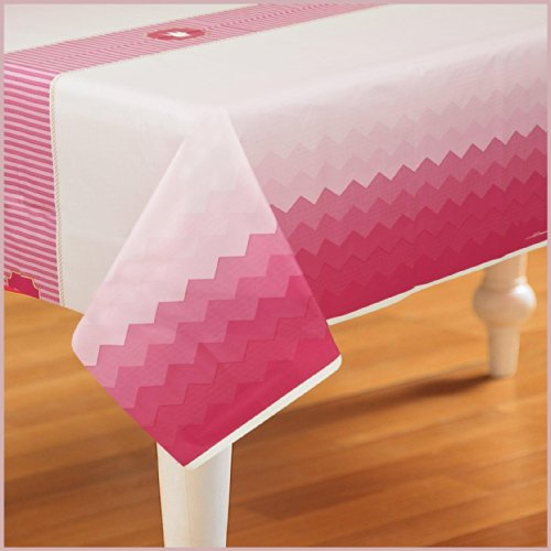 Birthday Express - Pink! Plastic Tablecover