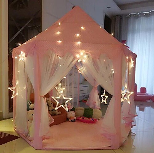 autop-large-indoor-and-outdoor-kids-play-house-pink-hexagon-princess-castle-kids-play-tent-with-23-l