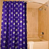 College LSU Tigers 72'' x 70'' Purple Collegiate Shower Curtain