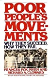 Poor People's Movements: Why They Succeed, How They Fail (0394726979) by Piven, Frances Fox
