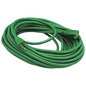 50 ft x 14 gauge green outdoor extension cord from tnm. Black Bedroom Furniture Sets. Home Design Ideas