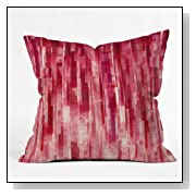 DENY Designs Jacqueline Maldonado Red Rain Throw Pillow