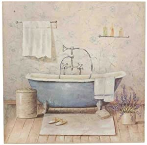 40646 Clayre & Eef - Immagine / quadro - Vasca da bagno - Blu ca. 50 x 50 x 3 cm: Amazon.it ...