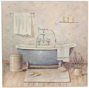 40646 clayre eef immagine quadro vasca da bagno blu ca 50 x 50 x 3 cm. Black Bedroom Furniture Sets. Home Design Ideas