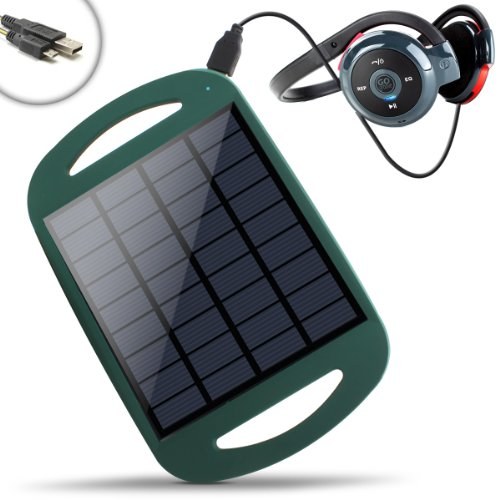 Revive Solar Restore Backyard & Outdoor Solar Panel Charger W/ Active Usb 5V Charging - Works W/ Plantronics , Gogroove , Lg , Motorola , Jabra , Samsung , Jawbone & More Rechargeable Bluetooth Headsets - Incl. Micro Usb Cable