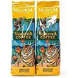 Magnum Exotics Sumatra Mandheling Ground Coffee, 16 Ounce (Pack of 2)