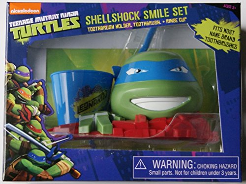 Nickelodeon Teenage Mutant Ninja Turtles Leonardo Great Smile Set, 3 Pc