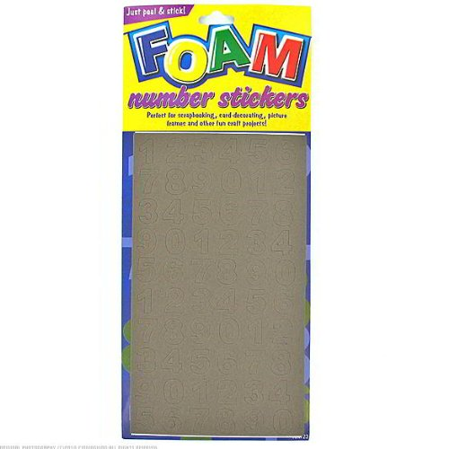 24 Packs of Assorted Foam Number Stickers