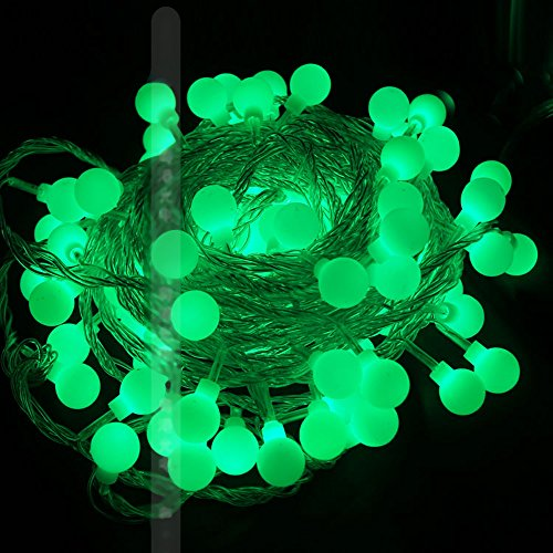 Gorgeouseve 33 Feet Linkable Ball String Fairy Light For Wedding New Year Party Holiday (Green)
