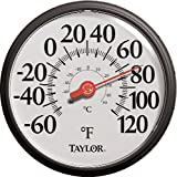 Taylor Big and Bold Dial Thermometer, 13.25-Inch, Black