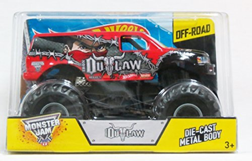 Hot Wheels Monster Jam Iron Outlaw Scale 1:24 Off Road 2014
