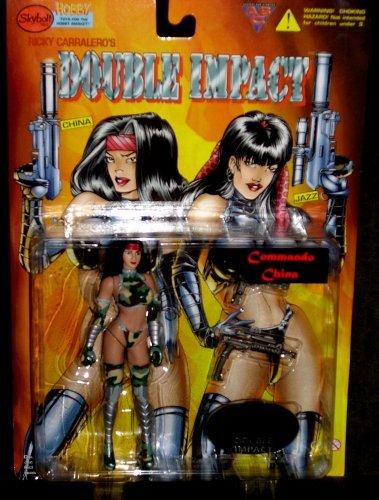 "Ricky Carralero's DOUBLE IMPACT Figure ""Commando China"" 1998 by Skybolt Toys - 1"