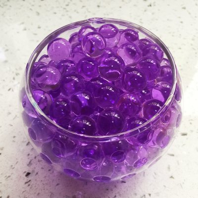 4000 Pcs Crystal Soil Water Beads Growing Magic Jelly Balls Bio Gel Wedding Casamento Vase Fillers (Purple) (Small Jelly Beads compare prices)