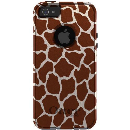 Best Price CUSTOM OtterBox Commuter Series Case for iPhone 5 5S - Brown Beige Tan Giraffe Skin Spots Print Pattern