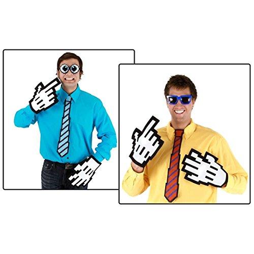 GSG Pixel-8 Neck Tie Costume Accessory Adult Teen Mens Halloween (Little Red Riding Hood Halloween Costume Teenager)