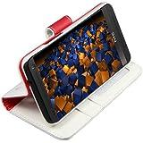 mumbi Ledertasche im Bookstyle f�r HTC One Tasche weiss mit Aufsteller (NICHT HTC One M8)
