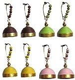 Dsignstudio pack of 4 elegant hanging jhumkas H2