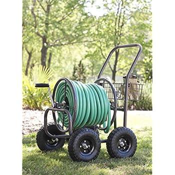 Liberty Garden Products 871-1 Residential Grade 4-Wheel Garden Hose Reel Cart, Holds 250-Feet of 5/8-Inch Hose - Bronze