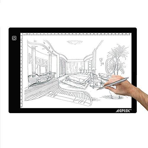 Tracing-Light-Box-AGPtek-17A4-Size-LED-Artcraft-Tracing-Light-Pad-Light-Box-For-ArtistsDrawing-Sketching-Animation