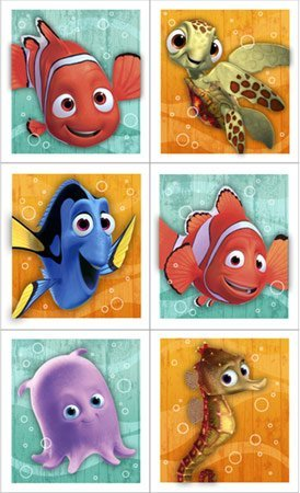 Disney Nemo's Coral Reef Sticker (4 sheets) Party Accessory