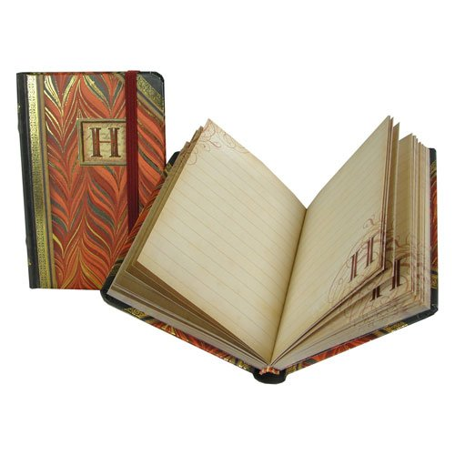 Punch Studio Mini Notebook with Monogram, H (Old Fashioned Journal compare prices)